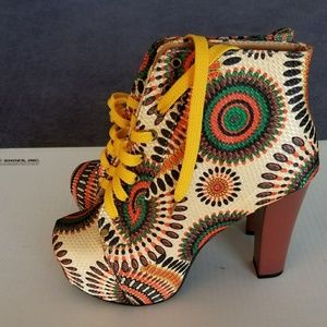 Shoes - Bohemian style wedges ankle boots